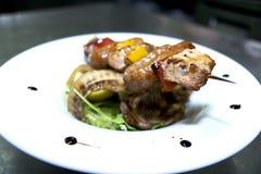Wanderful piec na grillu mieszany mięso obrazy stock