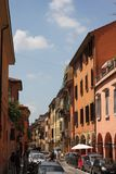 Colorful Streets of Bologna royalty free stock photo