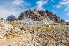 On wandering through Dolomite mountain walks - Italy Stock Photography