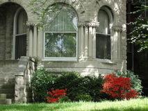Wandering in Louisville. Old downtown historic houses blossoming with color stock photography