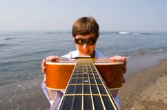 Wandering musician Stock Images