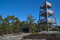 Wandering in the Rock path. viewing tower Royalty Free Stock Photography