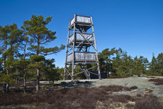 Wandering in the Rock path. viewing tower Stock Photo