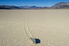 Wandering rock, the racetrack, death valley , california Stock Image
