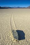Wandering rock, the racetrack, death valley , california. unexpl Royalty Free Stock Photo