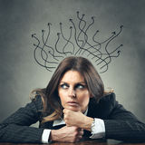 Wandering thoughts Royalty Free Stock Image