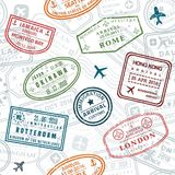 Passport stamp texture royalty free illustration