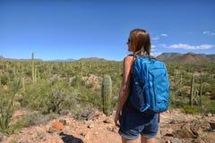 Wanderlust and desert travel Stock Image