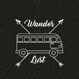 wanderlust spirit design stock photo