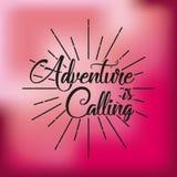Wanderlust spirit design. Wanderlust card over pink background. colorful design.  illustration Royalty Free Stock Photos