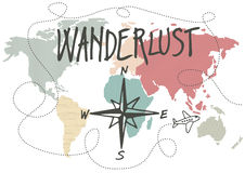 Wanderlust stock illustration