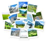 Wandern, Abenteuer und Erholung in den Alpen-Bergen Lizenzfreie Stockfotos
