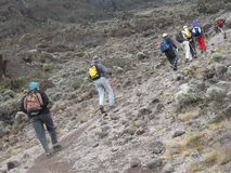 Wandern in Afrika Lizenzfreie Stockbilder