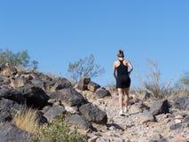 Wandern in Arizona stockfotos