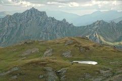 Wandern auf dem Berg Korab Stockbild