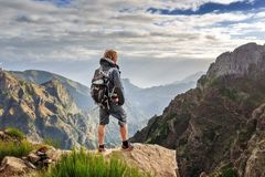Wandern auf Madeira-Insel stockfotos