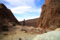 Wandern auf Vulkan Lizenzfreie Stockbilder