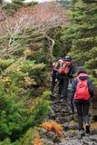 Wandern in den Bergen stockfoto