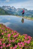 Wandern in den Bergen Stockfotografie