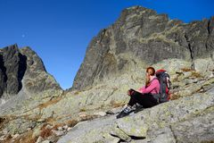 Wandern in den Tatra Bergen Lizenzfreies Stockbild