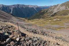 Wandern der Bahn in Nelson Lakes National Park Stockfoto