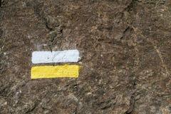 Wandern der Markierung Stockbilder