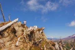 Wandern der Schloss-Spitze in Gifford Pinchot National Forest Lizenzfreie Stockfotografie