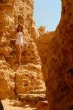 Wandern in der Wüste Stockfoto