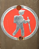 Wandern des Mannes Lizenzfreie Stockbilder