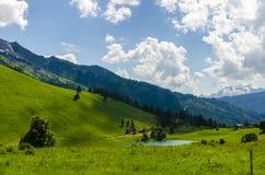 Wandern des Pfades in den julianischen Alpen Stockfotografie