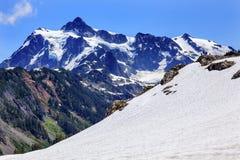 Wandern des Schneefeld-Künstlers Point Glaciers Mount Shuksan Washington Lizenzfreie Stockfotos