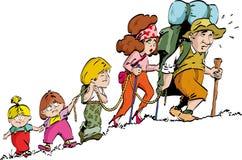 Wandern - Familie Stockbilder