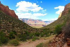 Wandern in Grand Canyon Arizona Lizenzfreie Stockfotos