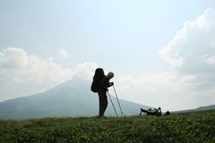 Wandern im Berg Lizenzfreie Stockfotografie