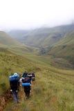 Wandern im Drakensberg Lizenzfreie Stockfotografie