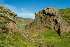 Wandern im geothermischen Land stockbilder