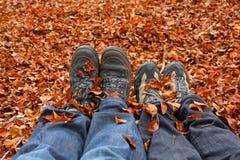Wandern im Herbst Lizenzfreie Stockbilder