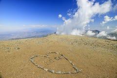 Wandern im Mt Baldy-Spur lizenzfreies stockbild