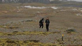Wandern in Island stock footage