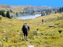 Wandern in Kanada Stockbild