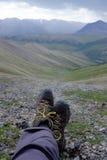 Wandern in Kanada-` s Yukon stockbilder