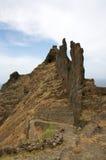 Wandern in Kap-Verde Stockfotos