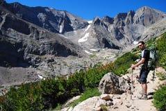 Wandern in Kolorado lizenzfreie stockfotos
