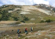 Wandern in Richtung zum Flöte-Gipfel nahe Pfeifer Lizenzfreie Stockfotos