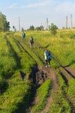 Wandern in Russland Stockbilder