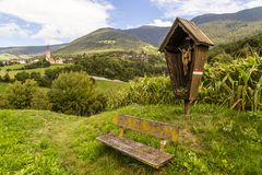 Hiking in South Tyrol stock images
