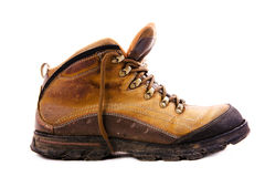Wandern von braunen Stiefeln Stockfotografie