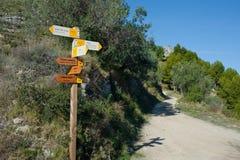 Wandern von Signpost lizenzfreie stockfotografie
