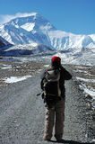 Wandern zum Everest lizenzfreie stockfotos