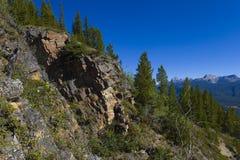 Wandernde Spur auf der Seite eines Berges Stockfoto